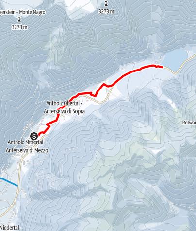 Mapa / Winterwanderung: Antholz Mittertal - Antholzer See