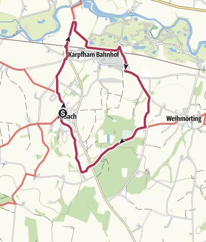 Karte / Rotthalmünster Tour 20 - Von Asbach und Karpfham