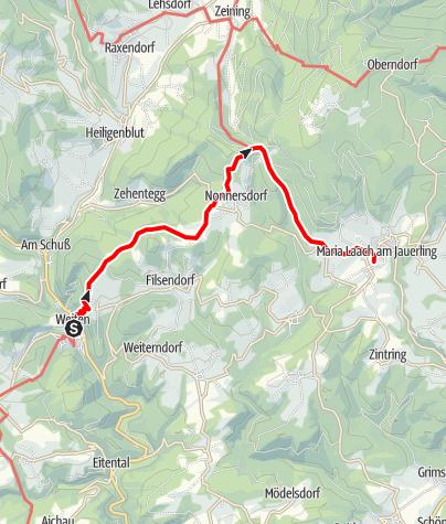 Map / Drei-Kirchenweg: Weiten - Maria Laach