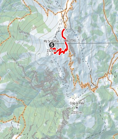 Karte / Scalottas - June Hütte