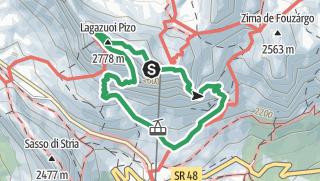 Karte / VF4 - Lagazuoi War Tunnels and Lagazuoi Via Ferrata (Kaiserjägersteig) from Rifugio Lagazuoi