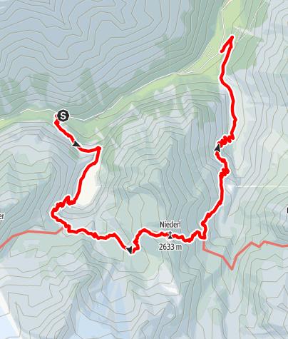 Map / Stubai Mountain Lakes: Grünausee (Variant 2)