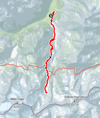 Karte / Stubaier Bergseen: Freiger See