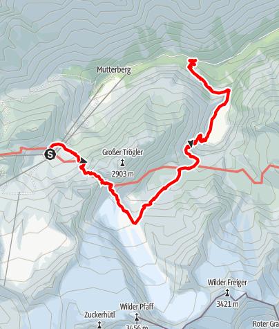 Mapa / Stubaier Bergseen: Blaue Lacke