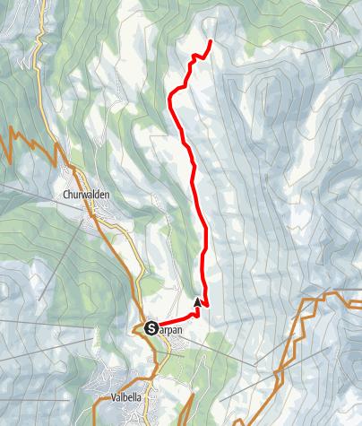 Karte / Aufstieg Joch