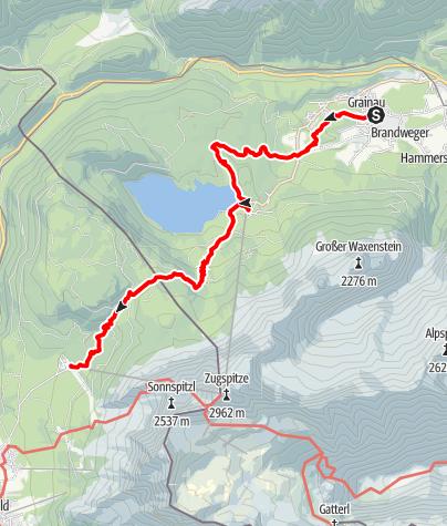 Karte / Die Kompakte Variante - Gipfelglück Eibseeblick