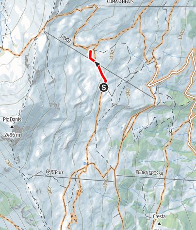 Kaart / Uphill Höhenweg