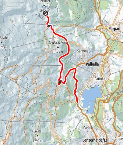Karte / Alp Stätz - Lenzerheide