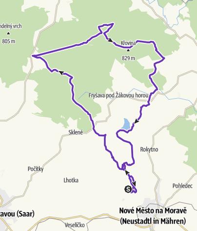 Mapa / Horská výzva 2020: Vysočina - HALF