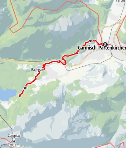 Karte / Die Knie schonende Variante: Bequem mit der Bergbahn