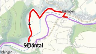 Karte / Kocher-Jagst-Radweg: Umleitung Schöntal