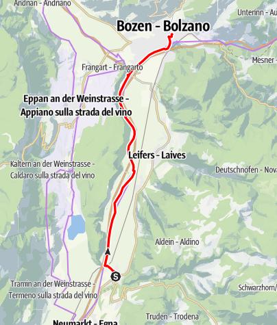 Karte / Auer - Bozen