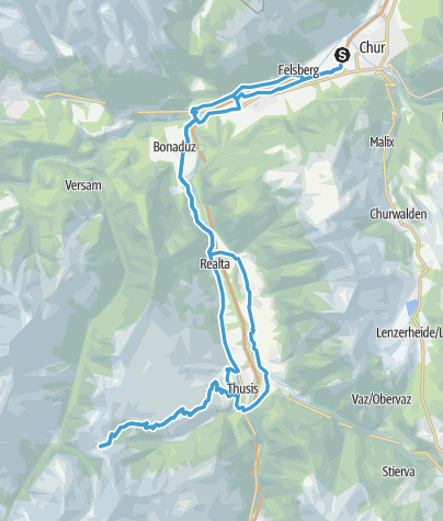 Karte / Chur - Glaspass - Domleschg - Chur