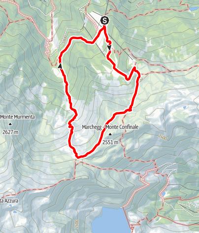 Map / Jochwaal di Tarres tour