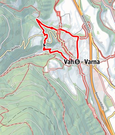 Mappa / Il sentiero Carl-Toldt a Varna