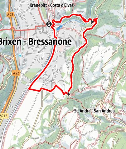 Karte / Promenadenwanderung in Brixen