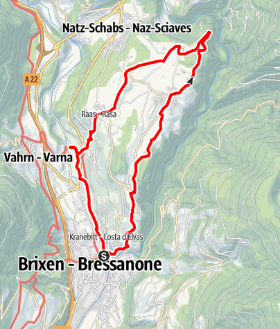 Map / Eisacktal Valley Wine and Apple Trail