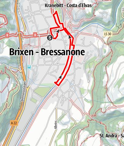 Kaart / Der grüne Stadtspaziergang in Brixen