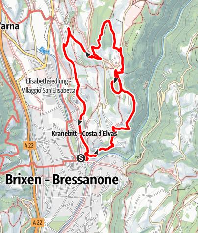 Karte / Der Pinàzweg nach Elvas