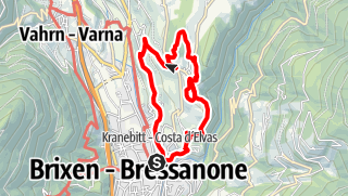 Map / The Pinàzweg Trail up to Elvas