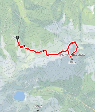 Karte / Hoher Dieb-Überschreitung (Rundtour)