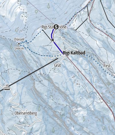 Map / Toboggan Run Rigi Staffelhöhe-Rigi Kaltbad