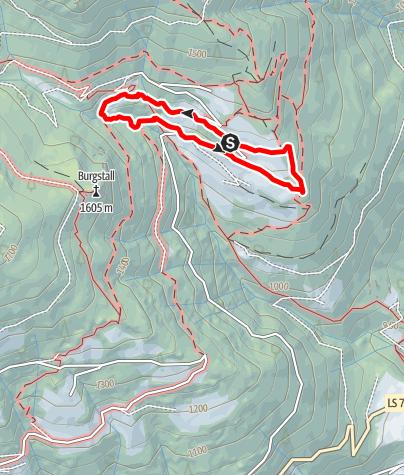 Mappa / Sentiero panoramico delle erbe medicinali Spelonca in Val Scaleres