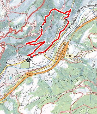 Kaart / Leitacher Weinwanderweg in Klausen