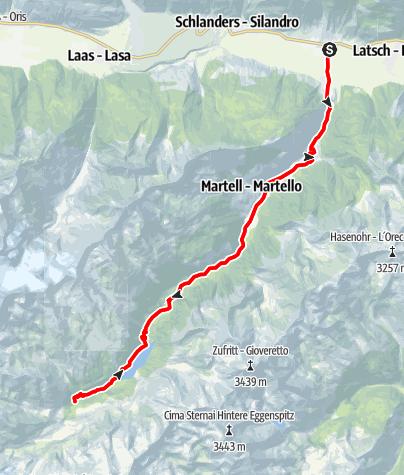 Mapa / Auf den Spuren des Giro d'Italia