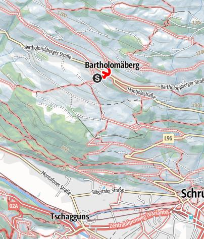 Karte / Historische ArchitekTour Montafon / Bartholomäberg