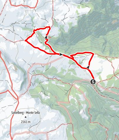 Kaart / Der Latschenkieferweg auf der Villanderer Alm (Latschenweg)