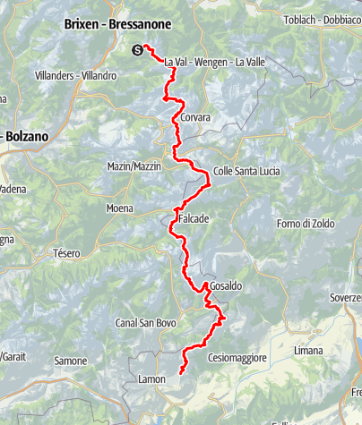 Kaart / Dolomiten Höhenweg Nr. 2