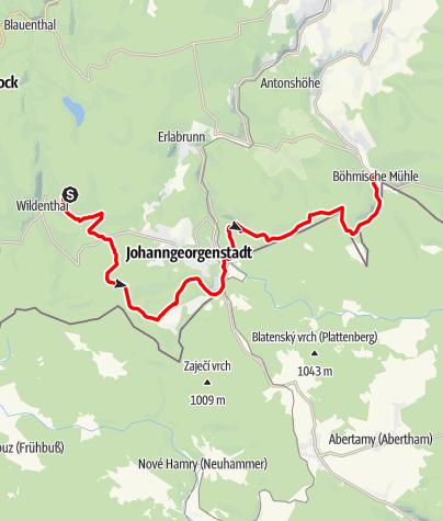 Karte / Stoneman Miriquidi MTB C-Edition Abschnitt Auersberg-Rittersgrün
