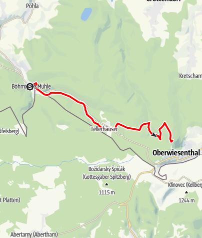 Karte / Stoneman Miriquidi MTB 2020 Abschnitt Rittersgrün-Fichtelberg