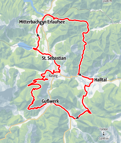 Karte / Romantiktour Mariazeller Land