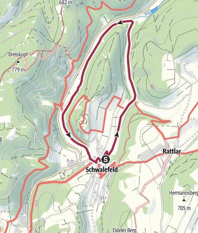 Map / Pionierbrücken-Rundweg (Schwalefeld)