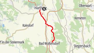 Karte / Hartberg Bahnhof - Bad Waltersdorf Bahnhof