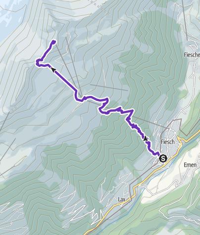 Karte / VK2, Fiesch - Eggishorn, 7,9 Km, 1807 D+