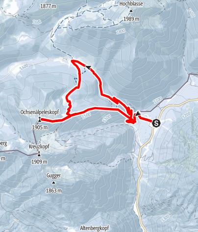 Karte / Skitour - Ochsenälpleskopf