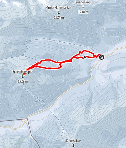 Map / Ski tour - Scheinbergspitze