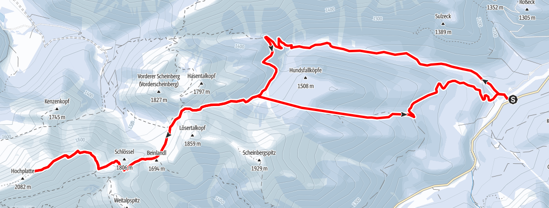 Map / Ski tour – Hochplatte