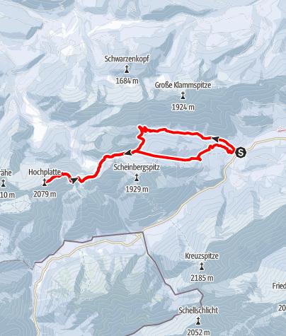Map / Ski tour – Hochplatte
