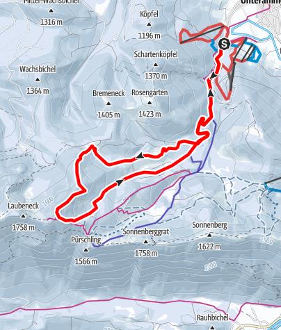Karte / Skitour - Teufelstättkopf