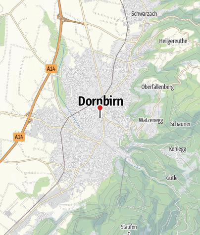 Karte / Dornbirn, Katholische Stadtpfarrkirche Sankt Martin