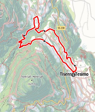 Map / Circular hike to Foiana/Völlan
