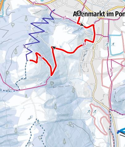 Karte / Wanderweg zum Aussichtspunkt Winterbauer