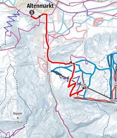 Map / Winter Hiking Trail-Hochnössleralm/Bifei's Hütt'n
