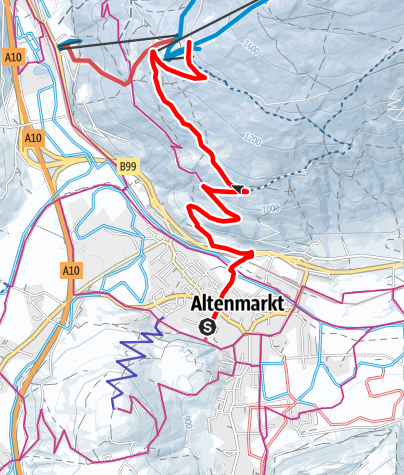 Map / Winter Hiking Trail-Reitlehenalm