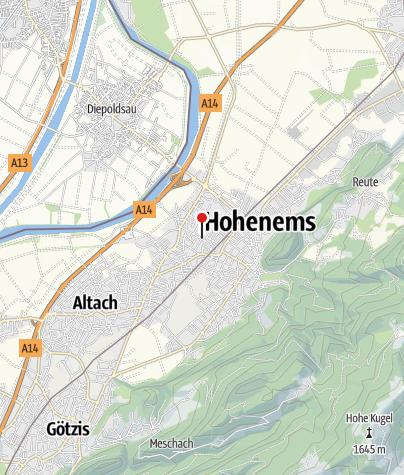 Karte / Hohenems, Pfarrvikariatskirche Heiliger Konrad