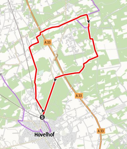 Kaart / Hö 1 - Tour durch die Rieger Heide und die Senne